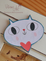 Magnet - White Kitty