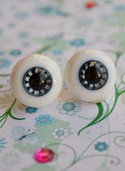 Oczy szklane - 14 mm - KH-01