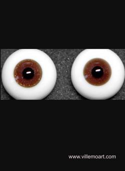 glass eyes - 16 mm - Glitter 05