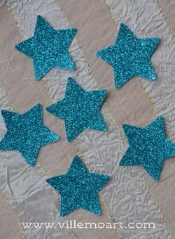 Gwiazdki - 6 szt - scrapbooking - BlueGlitter